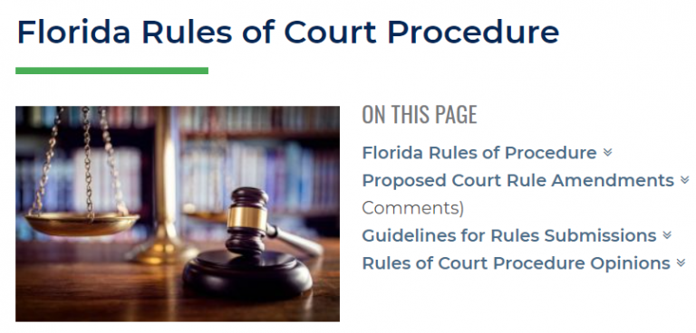 Florida Bar Rules of Court graphic